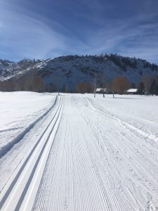 Grooming Nordic Track at Dos Rios in Gunnison, CO