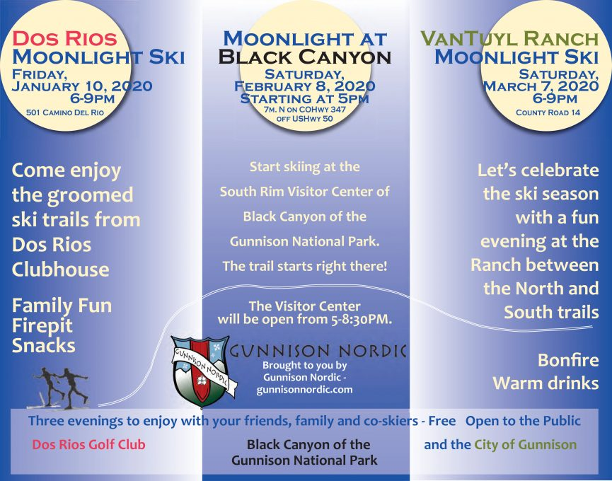 2020 Gunnison Nordic Moonlight Events